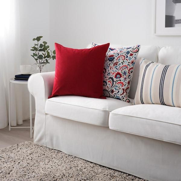 SANELA サネーラ クッションカバー, レッド, 50x50 cm