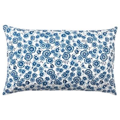 SÅNGLÄRKA ソングレルカ クッション, フラワー/ブルー ホワイト, 65x40 cm