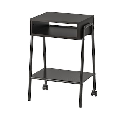 SETSKOG セットスコグ ベッドサイドテーブル, ブラック, 45x35 cm