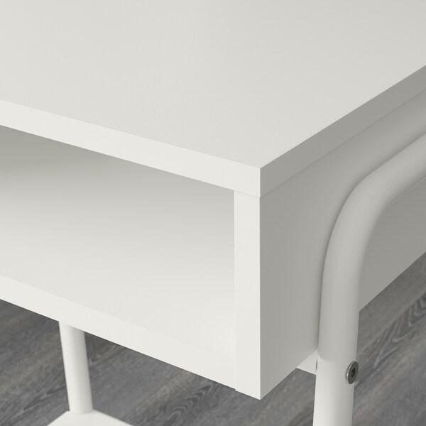 SETSKOG セットスコグ ベッドサイドテーブル, ホワイト, 45x35 cm