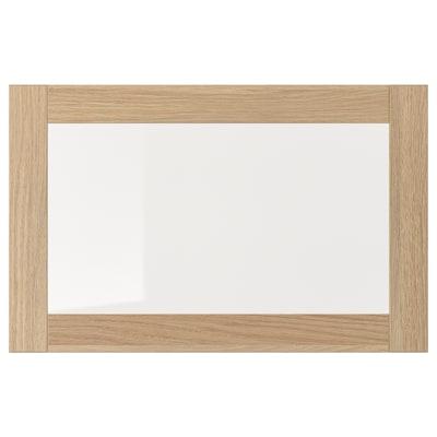 SINDVIK シンドヴィーク ガラス扉, ホワイトステインオーク調/クリアガラス, 60x38 cm