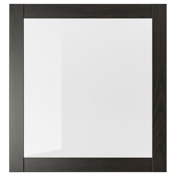 シンドヴィーク ガラス扉 ブラックブラウン/クリアガラス 60 cm 64 cm