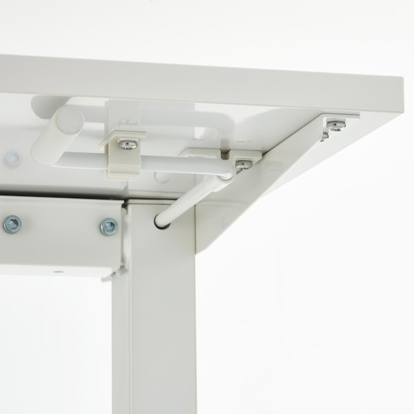 SKARSTA スカルスタ デスク 昇降式, ホワイト, 160x80 cm