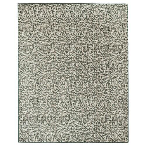 スケルンド ラグ 平織り、室内/屋外用 グリーン‐ベージュ 250 cm 200 cm 4 mm 5.00 m² 1295 g/m²