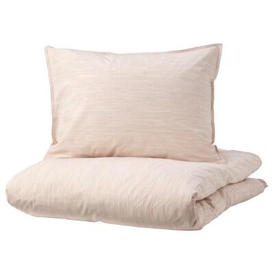 SKOGSALM スコグサルム 掛け布団カバー&枕カバー, ピンク, 150x200/50x60 cm