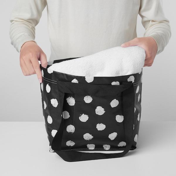SKRUTTIG スクルッティグ バッグ, ホワイト/ブラック, 27x27 cm