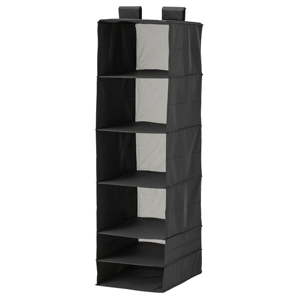 スクッブ 収納 6コンパートメント ブラック 35 cm 45 cm 125 cm