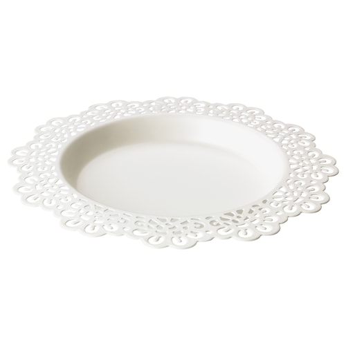 スクラール キャンドル皿 ホワイト 18 cm