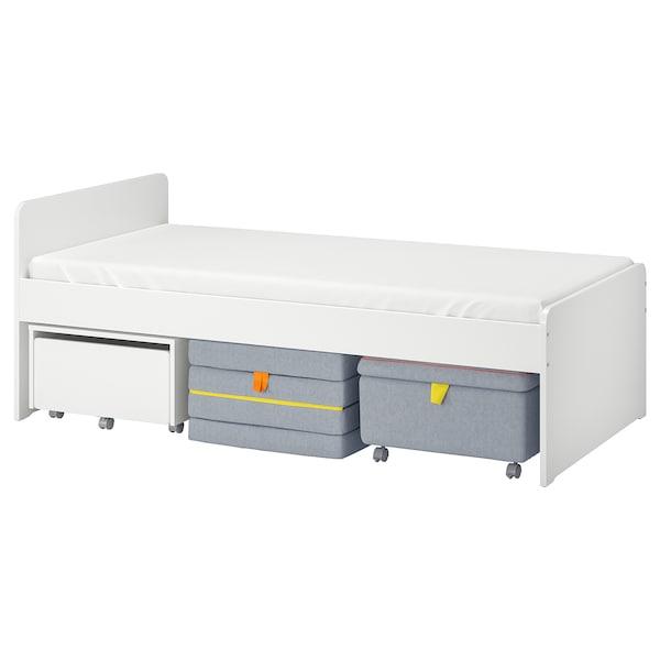 SLÄKT (スレクト)ベッドフレーム シートモジュール&収納付き