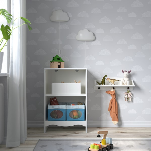 SMÅGÖRA スモヨーラ おむつ替え台/本棚, ホワイト