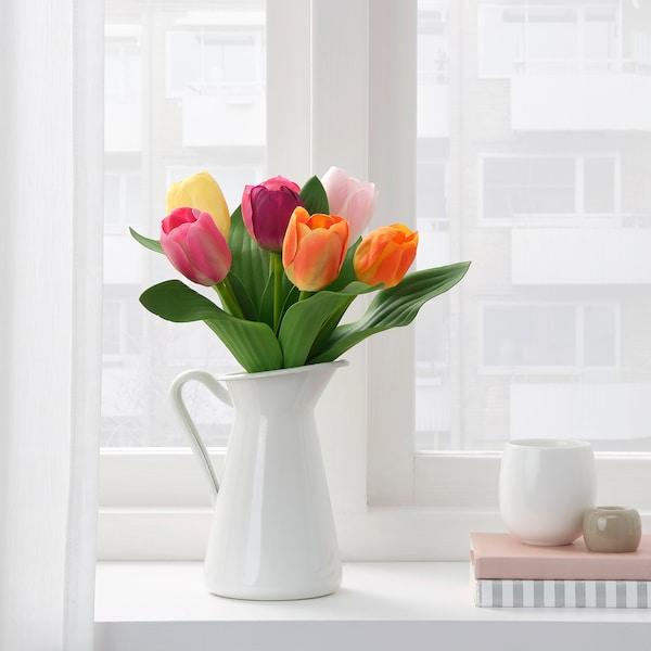 SMYCKA スミッカ 造花のブーケ, 室内/屋外用 チューリップ, 32 cm