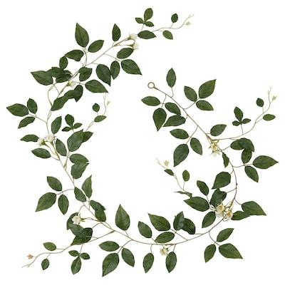 SMYCKA スミッカ 造花のガーランド, 室内/屋外用 バラ/ホワイト, 1.5 m