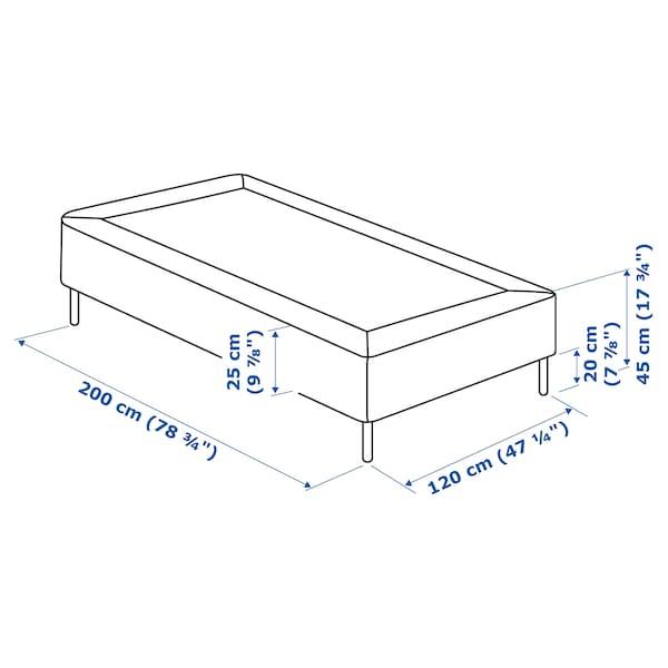 SNARUM スナルム 脚付きマットレス, かため/ベージュ, 120x200 cm