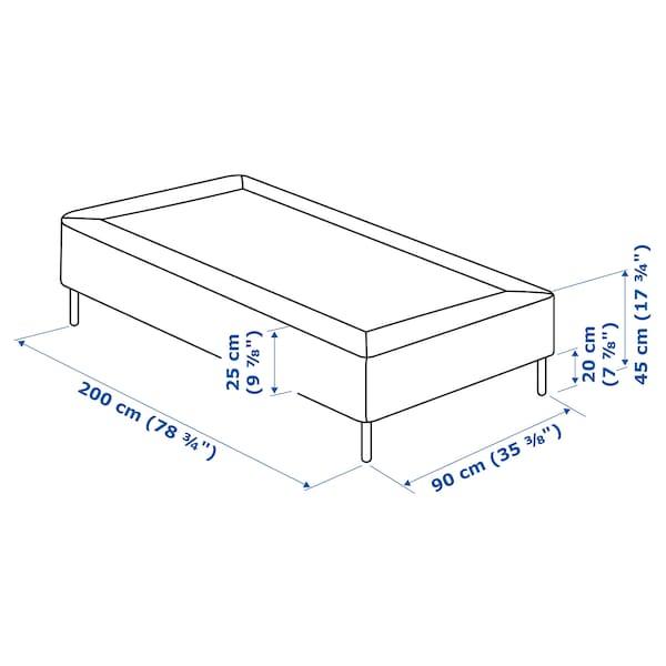 SNARUM スナルム 脚付きマットレス, かため/ベージュ, 90x200 cm