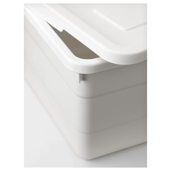 SOCKERBIT ソッケルビート ふた付きボックス, ホワイト, 19x26x15 cm