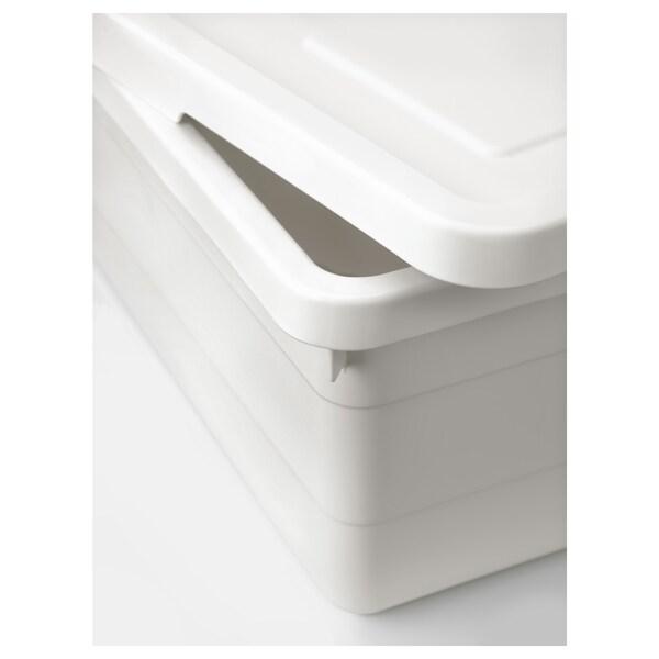 ソッケルビート ふた付きボックス ホワイト 38 cm 25 cm 15 cm