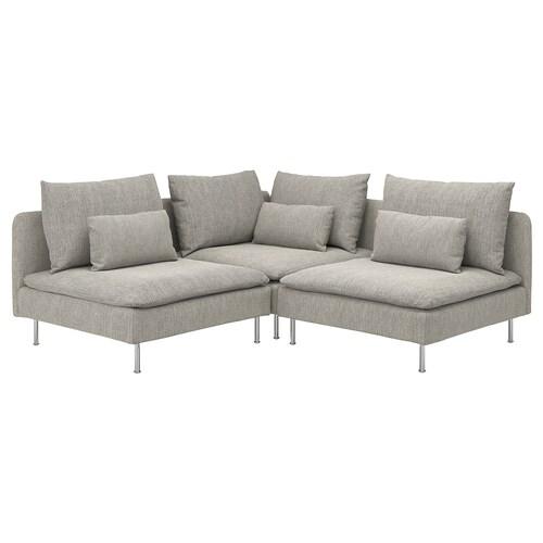 IKEA ソーデルハムン カウチソファ、3人掛け
