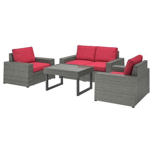 IKEA ソッレローン 4人用ソファセット 屋外用