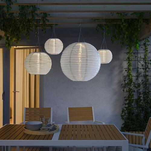 ソルヴィンデン LED太陽電池式ペンダントランプ 屋外用/球形 ホワイト 3 ルーメン 40 cm 45 cm 40 cm