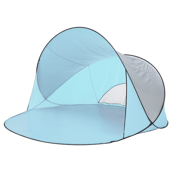SOMMARVIND ソッマルヴィンド ポップアップテント, ライトブルー, 230x200x130 cm
