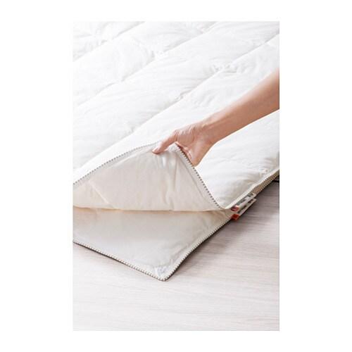 SÖTVEDEL オールシーズン用掛け布団 IKEA オールシーズン用掛け布団。薄手の掛け布団と、やや厚手の掛け布団のセット。スナップボタンで2枚を合わせると厚手の暖かい掛け布団になります