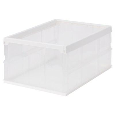 SPÅSIG スポースィグ 折りたたみボックス, 透明ホワイト, 49x36x24 cm