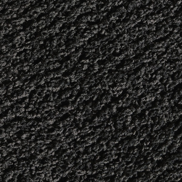 SPORUP スポルプ ラグ パイル短, ブラック, 133x195 cm