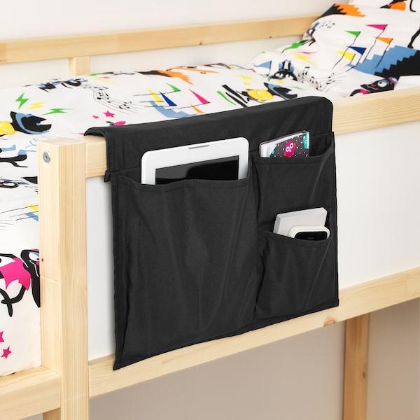 STICKAT スティッカート ベッドポケット, ブラック, 39x30 cm
