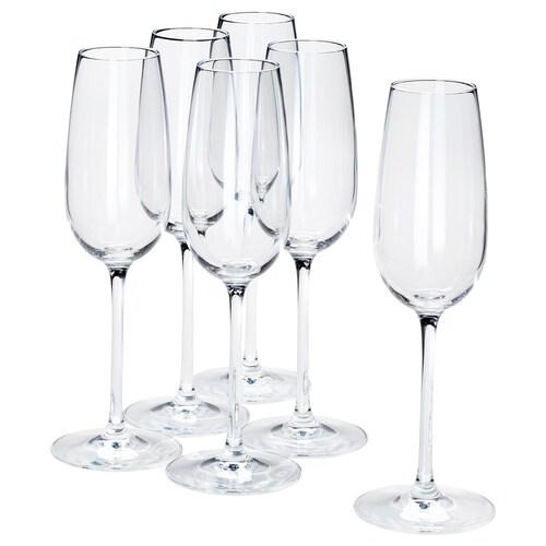 ストルシント シャンパングラス クリアガラス 22 cm 22 cl 6 ピース