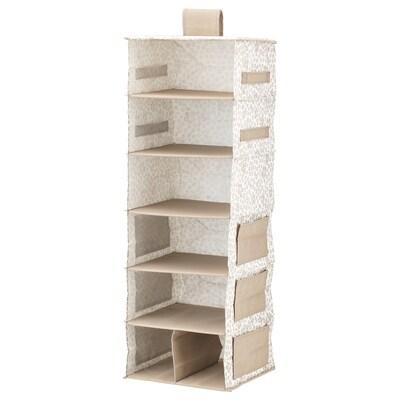 STORSTABBE ストルスタッベ ハンギング収納 7コンパートメント, ベージュ, 30x30x90 cm