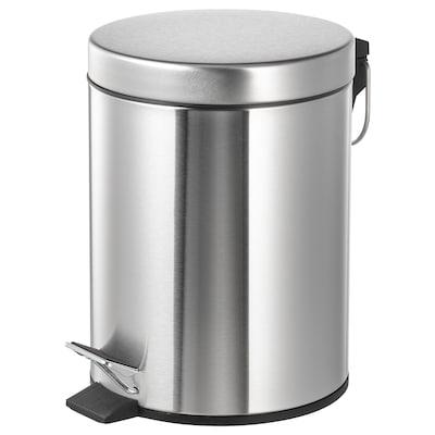 STRAPATS ストラパッツ ペダル式ゴミ箱, ステンレススチール, 5 l