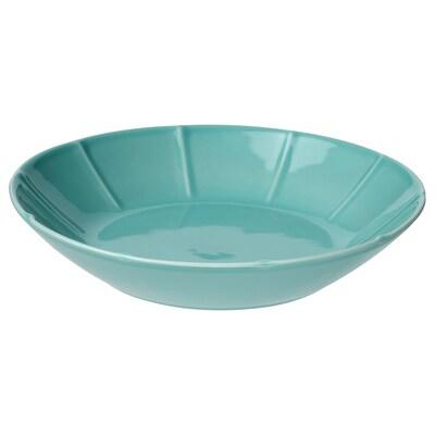 STRIMMIG ストリミグ 深皿, ターコイズ, 23 cm