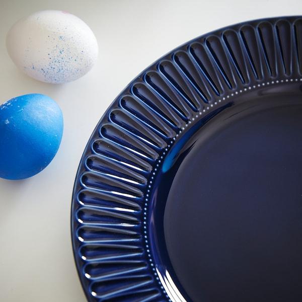 STRIMMIG ストリミグ サイドプレート, せっ器 ブルー, 21 cm