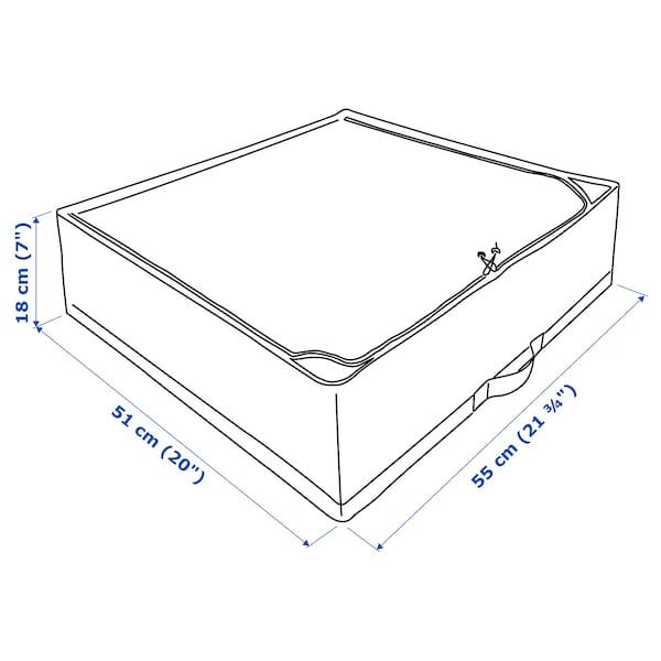 STUK ストゥーク 収納ケース, ホワイト/グレー, 55x51x18 cm