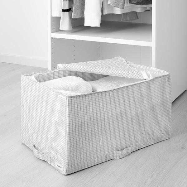 STUK ストゥーク 収納ケース, ホワイト/グレー, 34x51x28 cm