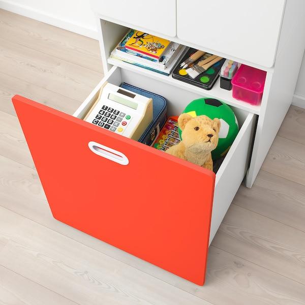 STUVA ストゥヴァ / FRITIDS フリーティズ ワードローブ おもちゃ収納付き, ホワイト/レッド, 60x50x192 cm