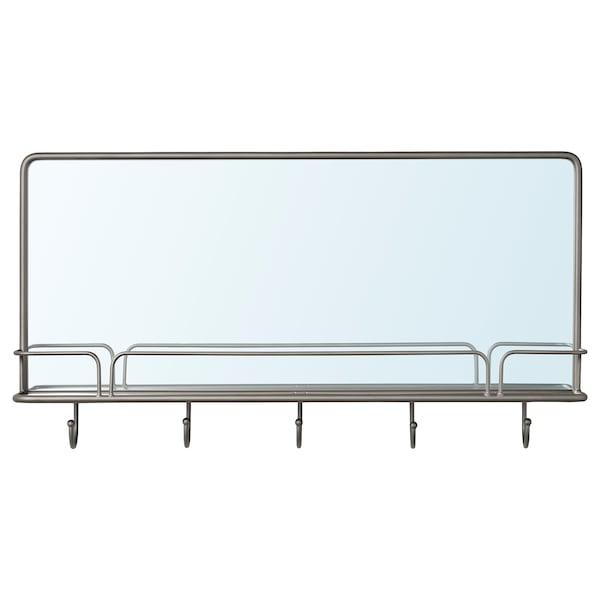 SYNNERBY シンネルビ ミラー シェルフ&フック付き, グレー, 71x38 cm