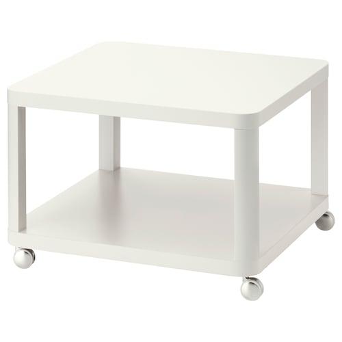 ティングビー ソファサイドテーブル キャスター付き ホワイト 64 cm 64 cm 45 cm
