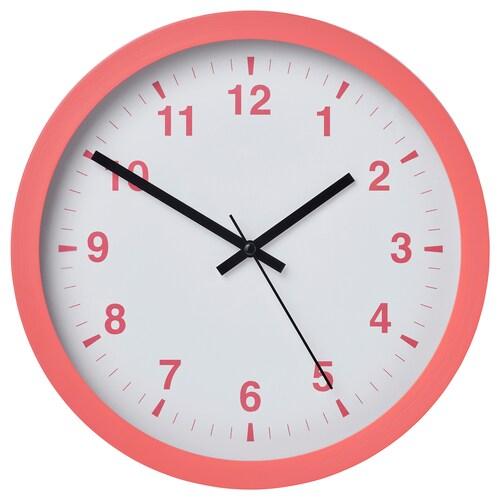 シャッラ ウォールクロック ピンク 28 cm 4 cm