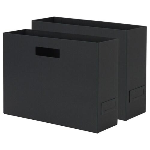 ティエナ マガジンボックス ブラック 紙 31 cm 10 cm 24 cm 2 ピース