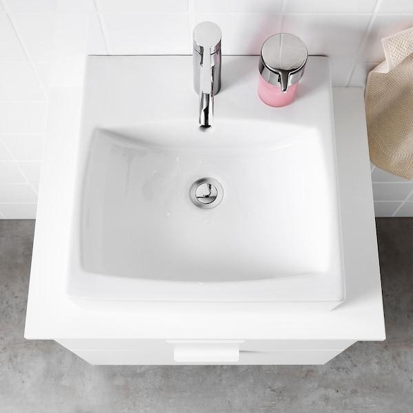 TÖRNVIKEN トールンヴィーケン カウンタートップ用洗面ボウル, ホワイト, 45x45 cm