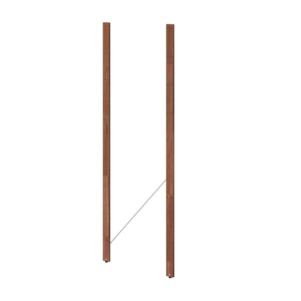 TORDH トルドフ 支柱、屋外用, ブラウンステイン, 161 cm 2 ピース