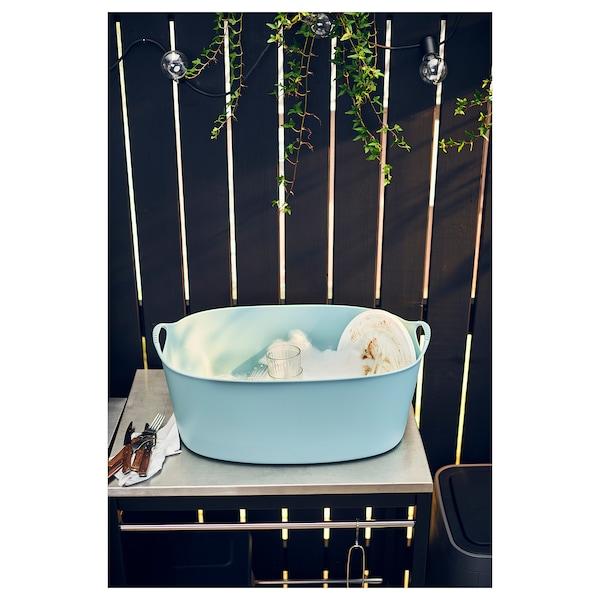 TORKIS トルキス フレキシブルランドリーバスケット、室内/屋外用, ブルー, 35 l
