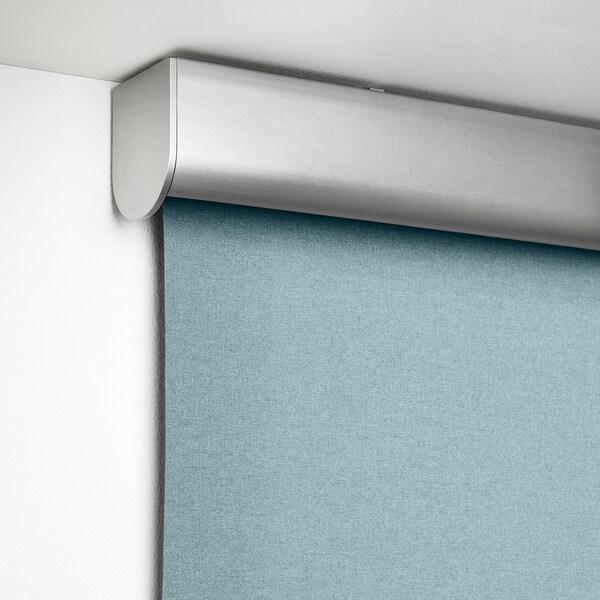 TRETUR トレトゥール 遮光ローラーブラインド, ライトブルー, 140x195 cm