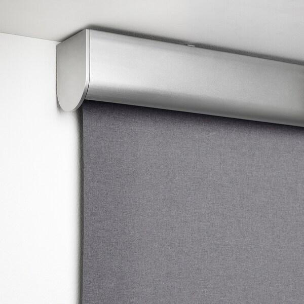 TRETUR トレトゥール 遮光ローラーブラインド, ライトグレー, 80x195 cm