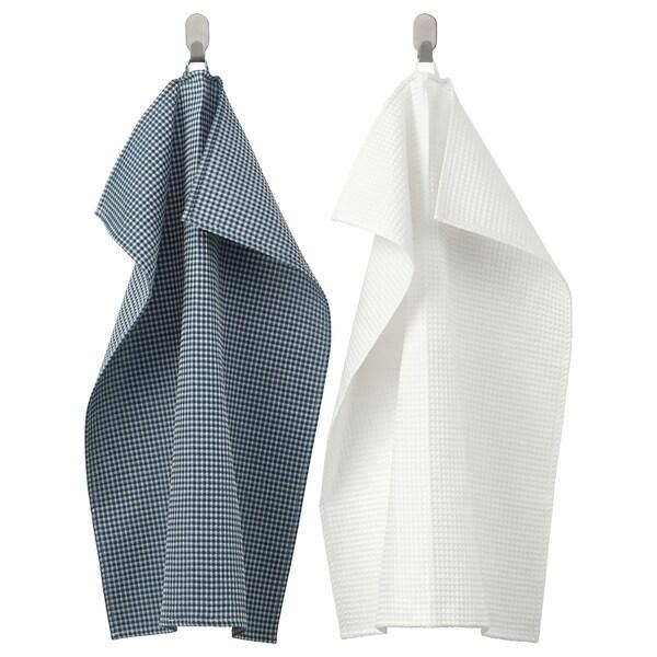 トロルピル キッチンクロス ホワイト/ブルー 70 cm 50 cm 2 ピース