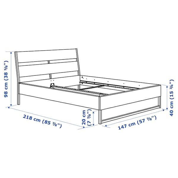 TRYSIL トリスィル ベッドフレーム, ダークブラウン/ルーローイ, 140x200 cm