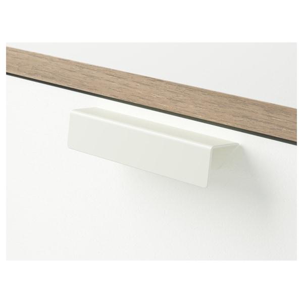 TRYSIL トリスィル ベッドサイドテーブル, ホワイト/ライトグレー, 45x40 cm