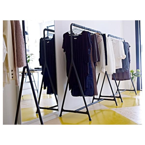 TURBO トゥルボー 洋服ラック, 室内/屋外用/ブラック, 117x59 cm