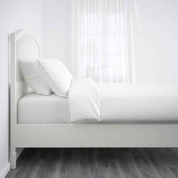 TYSSEDAL ティッセダール ベッドフレーム, ホワイト/ルーローイ, 120x200 cm